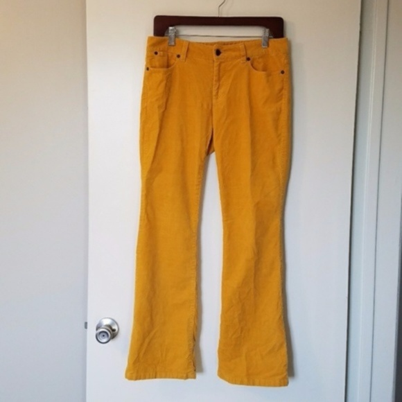 save up to 60% find workmanship factory authentic Talbots mustard yellow corduroy pants 6P